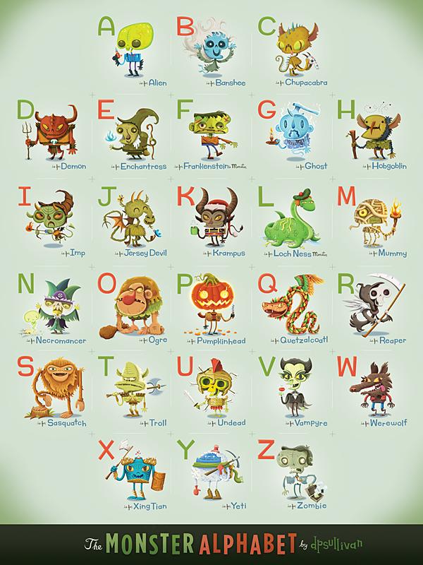 Monster Alphabet Dpsullivan
