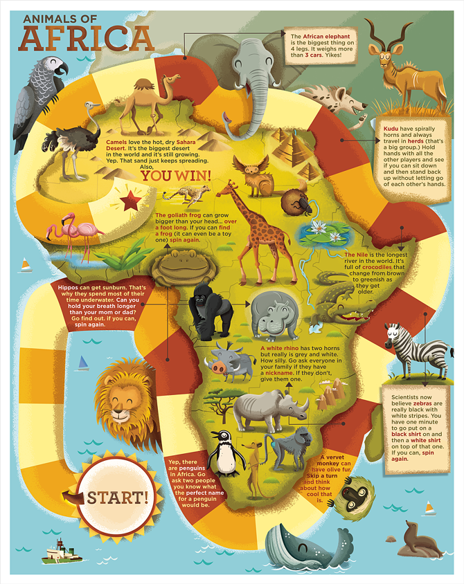 Our Big World Dpsullivan - Map of africa for kids