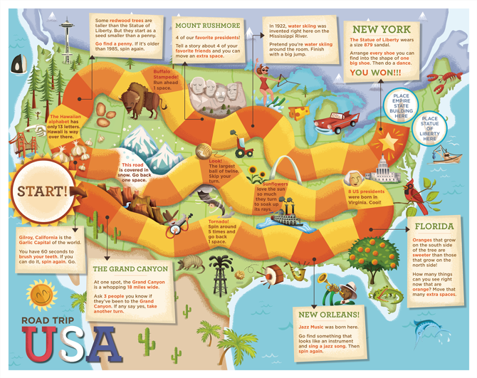 Our Big World Dpsullivan - Big map of us poster